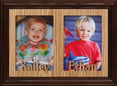 Personalized Two Name Frame. Holds two Portrait or cropped photos Name Frame, Hold On, Frames, Classy, Portrait, Photos, Gifts, Pictures, Presents