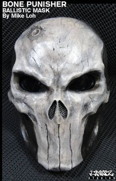 Bone Skull Punisher Mask Pre-Order. $280.00, via Etsy.