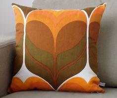Retro Pillow Cover Cushion  70s Vintage Orange MOD by nicework, £20.00