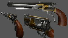 The Paddywhacker, known in-game as the Hand Cannon, is a top-break pistol based on the 1851 Colt Navy percussion cap revolver and can be used by Booker DeWitt in BioShock Infinite and Burial at Sea - Episode 1, and by Elizabeth in Burial at Sea - Episode 2. It is an accurate and rather powerful firearm, strong enough to kill certain enemies with a single shot and even decapitate them entirely. The revolver is first seen in the Heavy Hitters Part 1: Motorized Patriots trailer when Booker...