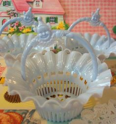 Vintage Birthday Party Favours baskets