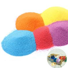 Option for Colored Sand; week 2 Sand Candles, Gel Candles, Diy Resin Crafts, Sand Crafts, Ocean Crafts, How To Make Sand, How To Color Sand, Diy Colored Sand, Magic Sand