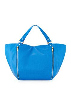 V2HSS Neiman Marcus Perforated Slouchy Tote Bag, Cobalt Blue