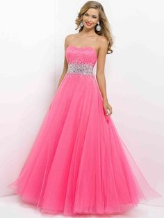 Sweet Pink Long Quinceanera Party Dress