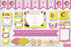 Inspired by the Curious George cartoon and books. This printable bundle is perfect for your Curious George themed birthday party! You will need Adobe