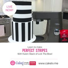 Learn how to apply perfectly straight horizontal stripes using fondant with Karen Stack of Lick The Bowl... Cake! TV brought to you by Renshaw Published by the Australian Cake Decorating Network www.acdn.me www.caketv.me