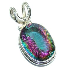 $59.95 Amazing++Magic+Topaz++Sterling+Silver+Bali+made+Pendant at www.SilverRushStyle.com #pendant #handmade #jewelry #silver #quartz