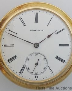 Tiffany & Co. Pocket Watch Antique, Antique Watches, Solid Gold, 18k Gold, Vintage Antiques, Tiffany, Auction, Clock, Ebay