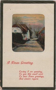Vintage Christmas greetings postcard
