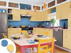 Yellow Painted Kitchens 12 kitchen cabinet color combos that really cook | shaker style