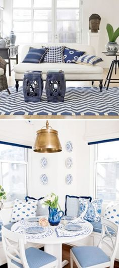 my daughter loves blue and white with a touch of green...