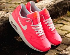 "Be Bright, Be Bold: Nike Air Max 1 Premium QS GS ""Hyper Punch"" 