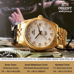 d200c6756 Gold Watch, Rolex Watches, Oysters, Luxury Fashion, Amman, Orient Watch,