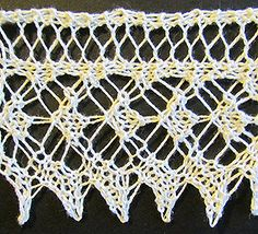 Lace knit edging knit from a Victorian era knitting pattern.