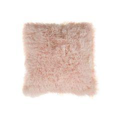 Bloomingville - Mongolian Lambswool Cushion - 40x40cm - Nude