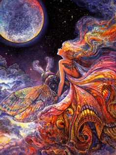 Josephine Wall - Fly Me to the Moon - Birthday Collector Card