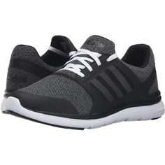 adidas Cloudfoam Xpression (Black/White/Onix) Women's Running Shoes ($53) ❤ liked on Polyvore featuring shoes, athletic shoes, black, running shoes, mesh athletic shoes, black white shoes, black shoes and black lace up shoes