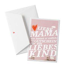 Weiteres - Muttertagskarte: Gutschein für liebes Kind, Bütte - ein Designerstück von Eine-der-Guten-Illustration bei DaWanda