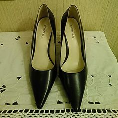 Black  Pumps. JUST REDUCED!!! VERY Small scuff on side, can't be seen on picture. Worn once for a concert Otherwise perfect Shoes Heels