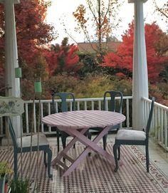Terraza en otoño