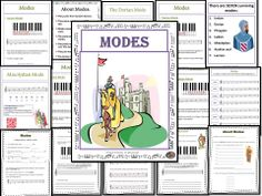 MODES: Teacher resources, Student workbook and music excerpts all in one file. Packed with content! * 22 page teacher resource * 9 page student workbook * 6 MP3 files of excerpts of songs based on modes (with both links and QR codes to files) $