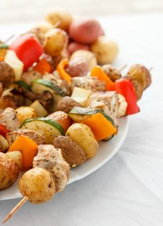 Craving some BBQ dishes but can't access your appliance? Fret no further with these tofu or chicken shish kabobs in the oven! Quick, delicious, and healthy!