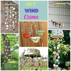great collection of diy wind chime ideas that upcycle or repurpose items