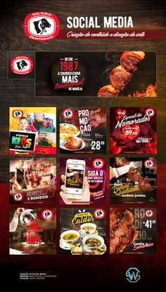 Baby Buffalo Churrascaria Social Media on Behance Social Media Bar, Social Media Content, Social Media Graphics, Food Graphic Design, Food Poster Design, Food Design, Design Ideas, Creative Banners, Creative Food