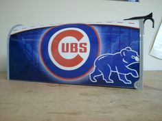 Hey, I found this really awesome Etsy listing at https://www.etsy.com/listing/90330298/chicago-cubs-themed-mailbox