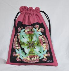 Mandala Drawstring Bag  Pink/aqua peony by Allenx2PhotoandCraft, $15.00