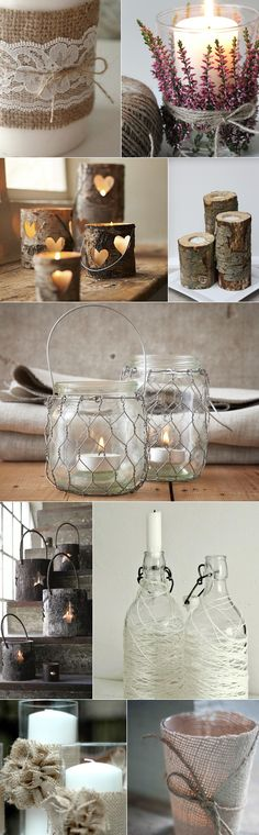 love the chicken wire around the jars