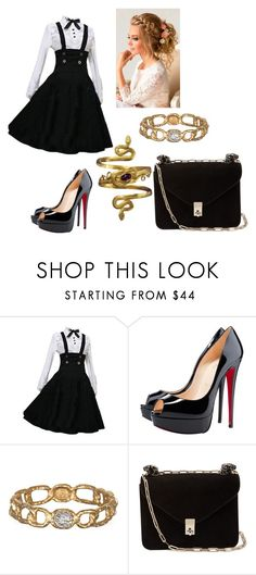 """""""Bloodlust"""" by minaalexanders ❤ liked on Polyvore featuring Christian Louboutin, Antigua and Valentino"""