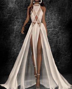 Fashion Drawing Dresses, Fashion Illustration Dresses, Fashion Dresses, Dresses Elegant, Stunning Dresses, Cute Dresses, Boho Chic Wedding Dress, Kleidung Design, Geometric Fashion