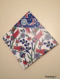Turkish tile design on canvas