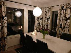 Modern scandinavian black and white  diningroom