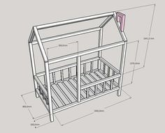 Baby Bedroom, Baby Boy Rooms, Baby Room Decor, Nursery Room, Kids Bedroom, Diy Cabin Bed, Diy Bed, Girls Room Design, Bed Design