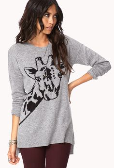 Giraffe Sweater! I NEED TO HAVE THIS! ! ♥
