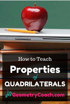 Free printable worksheets and lesson ideas on how to teach the properties of quadrilaterals. Properties of Quadrilaterals tips and tricks! Teaching Geometry, Teaching Math, Geometry Help, Geometry Art, Sacred Geometry, Teaching Ideas, Math Teacher, Math Classroom, Teacher Tips