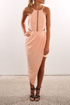 Countdown Cocktail Dress Peach