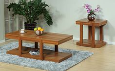 ID USA Furniture Distributor #13782-X2 2pc Coffee & End Table Set feature our rich Light Walnut color and straight simple lines. #IDUSA #IDUSAfurniture