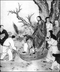 """Chinese Artist """"Christ Entering Jerusalem on Palm Sunday"""""""