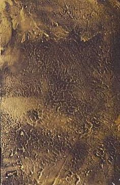 black gesso background tutorial - put a LOT of black gesso on surface and using credit card, make texture. set to dry, then with finger dab gold metallic paint