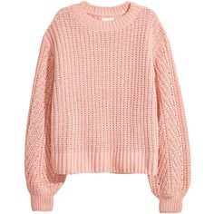 Loose-knit Sweater $19.99 (€17) ❤ liked on Polyvore featuring tops, sweaters, long sleeve tops, long sleeve jumper, long tops, loose sweaters and pink jumper