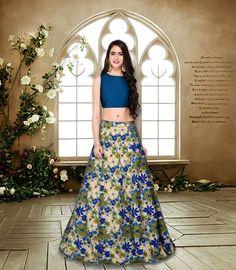 4f378a37c96f83 Blue Color Bollywood Designer Party Wear Wedding Lehenga Choli Flowers  Fashion  FlowerFashion  PartyWear Pink