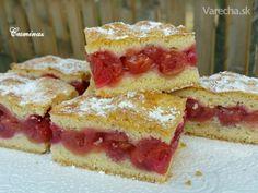 Je čas čerešňí a rôznych dobrôt z nich :-) Kedže my máme najradšej veľa ovocia v koláčoch, tak som sa rozhodla pre tento veľmi jednoduchý, ale skvelý koláčik :-)