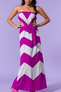 Purple chevron maxi dress With a jean jacket? Unique Dresses, Cute Dresses, Cute Outfits, Maxi Dresses, Long Dresses, Derby Outfits, Affordable Clothes, Playing Dress Up, Dress Me Up