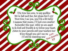 Elf on a Shelf Departure Letter