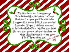 Elf on a Shelf Departure Letter