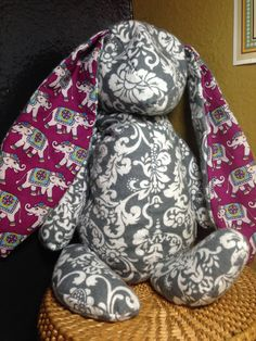 Bunny Heat/Cold Pack Filled with Rice Tossed with Lavender Essential Oils- Made to Order