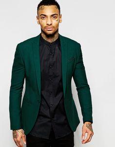 ASOS Super Skinny Suit Jacket In Green at asos.com 40301b004a1